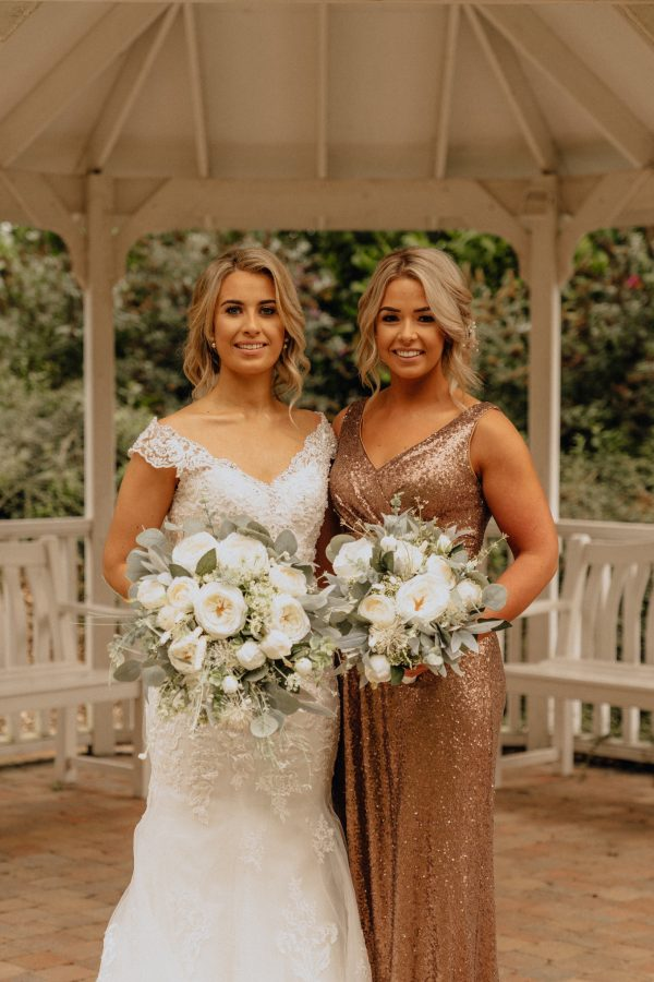 sequin bridesmaids dresses rent and return blooms