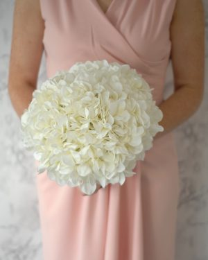 diana bridesmaids bouquet blush pink hydrangeas