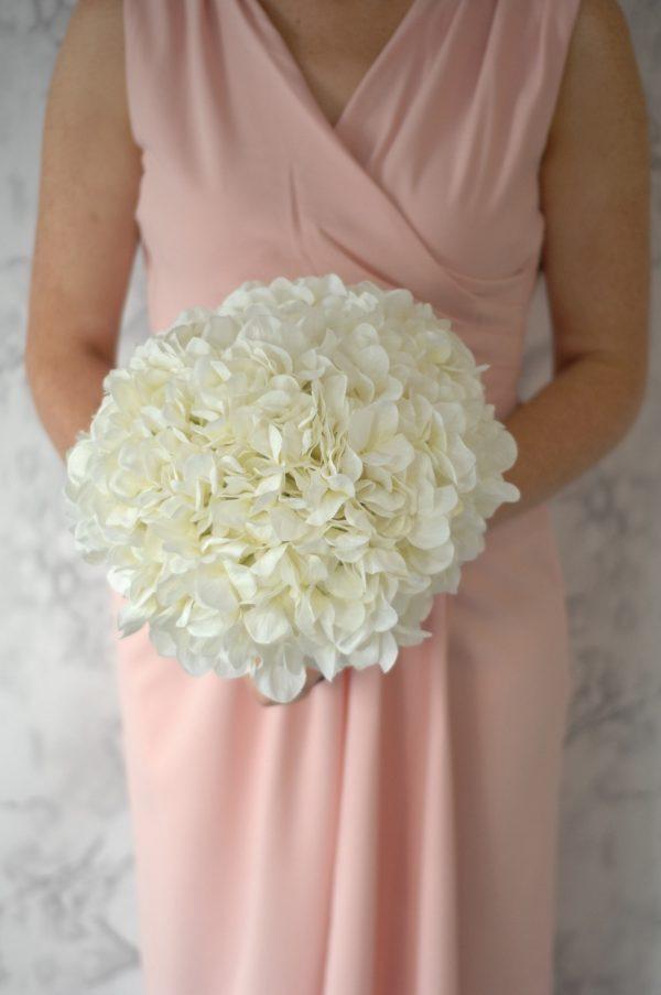 diana bridesmaids bouquet blush pink hydrangeas